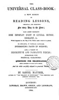 The universal class book  a ser  of reading lessons PDF