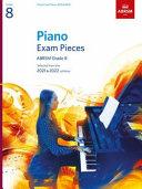 Piano Exam Pieces 2021   2022  ABRSM Grade 8