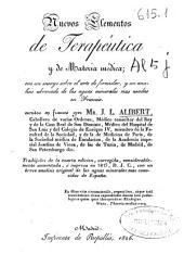 Nuevos elementos de terapeútica y de materia médica: con un ensayo sobre el arte de formular, y un análisis de aguas minerales de Francia, Volumen 3