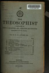 The Theosophist: Volume 11, Issue 121