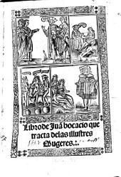 Libro de Boccaccio que tracta de las illustres Mugeres
