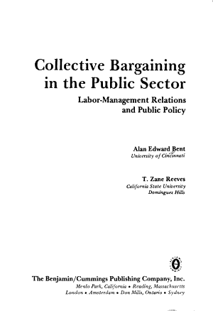 Collective Bargaining in the Public Sector PDF