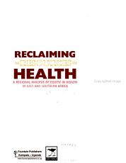 Reclaiming the Resources for Health PDF