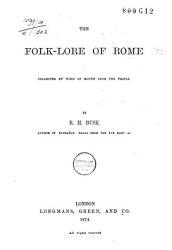 The Folk Lore Of Rome Book PDF