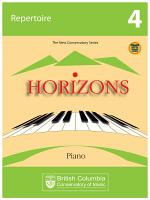 BCCM Horizons The New Conservatory Series Grade 4 Repertoire for Piano PDF