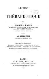 Lecons de Therapeutique : Les Medications