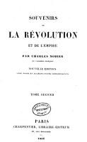 Souvenirs de la R  volution Et de L empire  Par Charles Nodier PDF