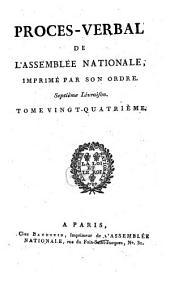 Procès-verbal de l'Assemblée Nationale: Volume 24
