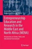 Entrepreneurship Education and Research in the Middle East and North Africa  MENA  PDF