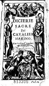 Dicierie sacre Del cavalier Marino... (Versi di L. D'Aglie, A. Di Ceva, L. Porcelletti, L. Tesauro, L. Scoto, Di Rouigliasco, C. Pallavicino)
