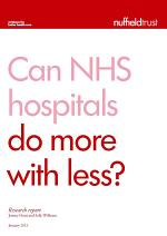 Can NHS hospitals do more with less?