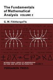 The Fundamentals of Mathematical Analysis