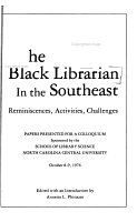 The Black Librarian in the Southeast PDF