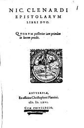 Epistolae: Libri duo