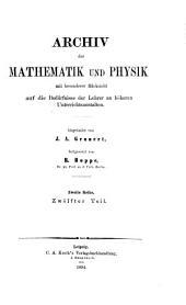 Archiv der Mathematik und Physik: Band 2;Band 12