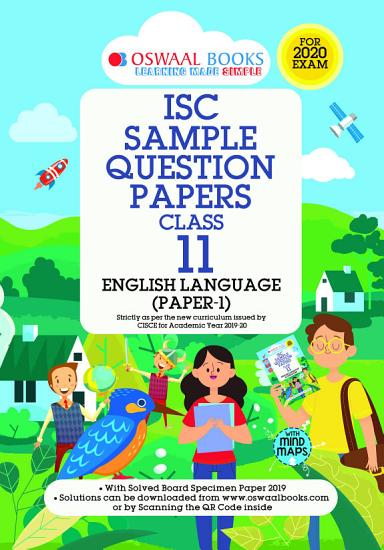 Oswaal ISC Sample Question Paper Class 11 English Paper 1 Language  For 2020 Exam  PDF