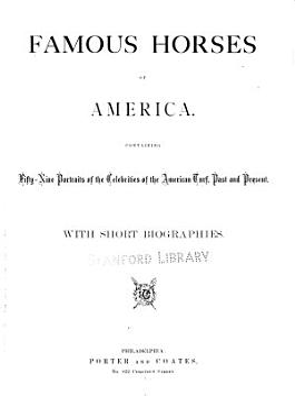 Famous Horses of America PDF