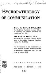 Psychopathology of Communication PDF