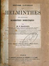Histoire naturelle des helminthes des principaux mammifères domestiques