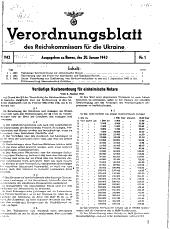 Verordnungsblatt Des Reichkommissars F  r Die Ukraine PDF