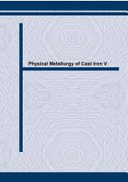 Physical Metallurgy of Cast Iron V PDF