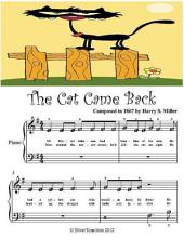 The Cat Came Back - Beginner Tots Piano Sheet Music