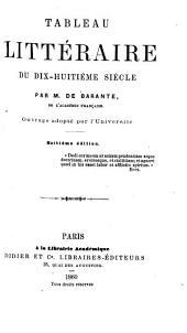 Tableau littéraire du dix-huitième siècle