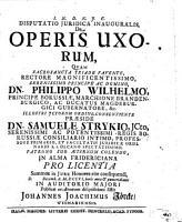 Disputatio juridica inauguralis de operis uxorum PDF