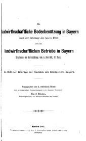 Beiträge zur Statistik Bayerns: Ausgaben 51-52