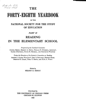 The Yearbook of the National Society for the Study of Education