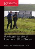 Routledge International Handbook of Rural Studies PDF