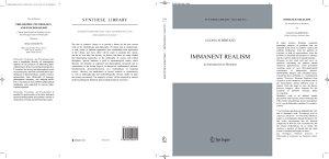 Immanent Realism PDF