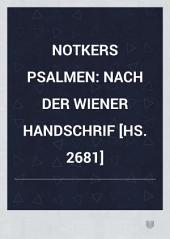 Notkers Psalmen nach der Wiener handschrift