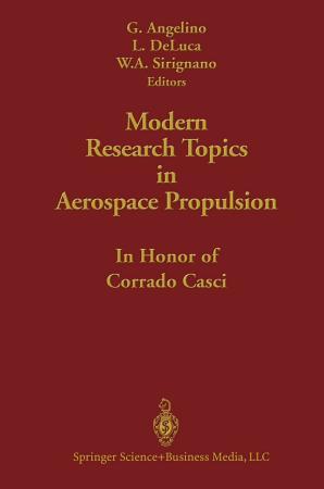 Modern Research Topics in Aerospace Propulsion PDF