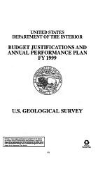 Department of the Interior and Related Agencies Appropriations for 1999: Justification of the budget estimates, U.S. Geological Survey