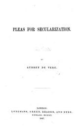 Pleas for Secularization: Volume 6