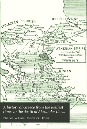 A History of Greece from the Earliest Times to the Death of Alexander the Great PDF