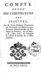 Compte Rendue Des Constitutions Des Jésuites
