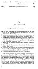 1  Statement and Supplementary Note  by the Committee of the General Assembly on the Act anent the Calling of Ministers  June 1839  2  Address from the Assembly s Non Intrusion Committee on the Present State of the Church of Scotland  December 1839  etc   A review  By Robert S  Candlish  Extracted from    The Presbyterian Review and Religious Journal