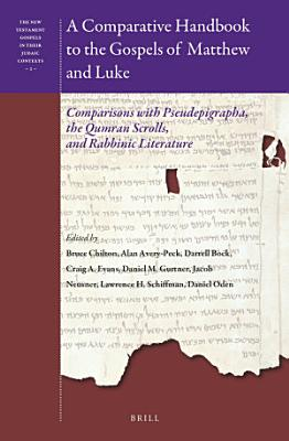 A Comparative Handbook to the Gospels of Matthew and Luke