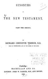 Synonyms of the New Testament: Part the Second