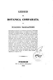 Lezioni di botanica comparata
