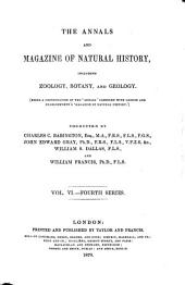The Annals and Magazine of Natural History: Volume 6