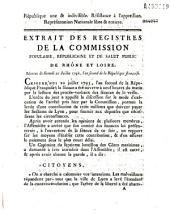 Extrait des registres... Séances du samedi 20 juillet 1793 [au-sujet de la levée d'une contribution et de sa répartition]