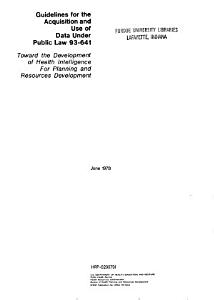 Guidelines for the Acquisition and Use of Data Under Public Law 93 641 PDF
