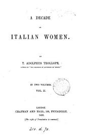 A Decade of Italian Women: Volume 2