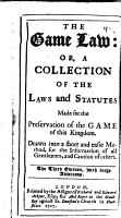 The Game Law PDF