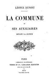 La Commune et ses auxiliaires devant la justice