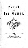 Versuch   ber den Roman PDF