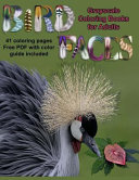 Bird Faces Grayscale Coloring Book for Adults
